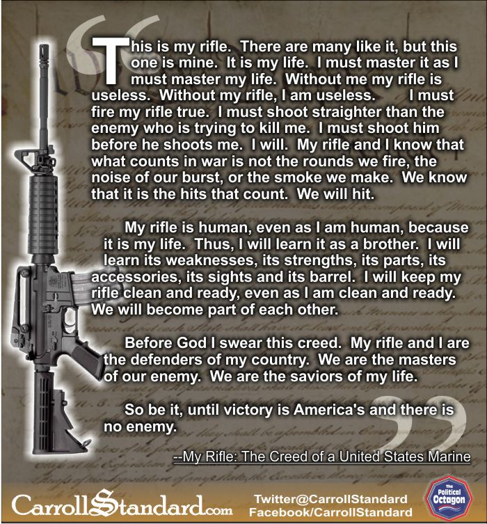 rifle creed usmc